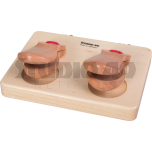 Castanets on wooden board